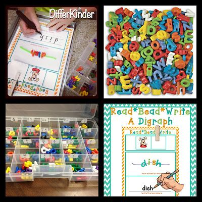 Fun ideas for working with letter beads - sorts, matches, abc order, sight words...