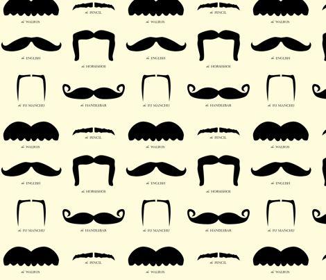Moustache fabric. LOL
