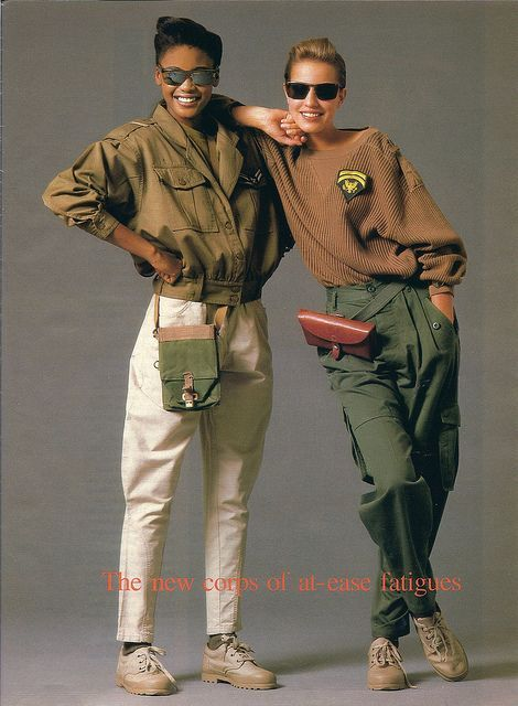 Seventeen Magazine - 1987 oversize aviator jacket, and jumper.