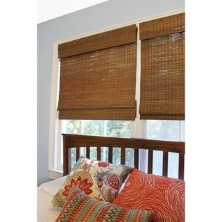 Radiance Cordless Maple Cape Cod Flatweave Bamboo Roman Shade With Images Bamboo Roman Shades Roman Shades Bamboo Shades