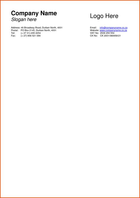 Letter Head Examplessample Business Letterhead Template 13png - business letterhead format