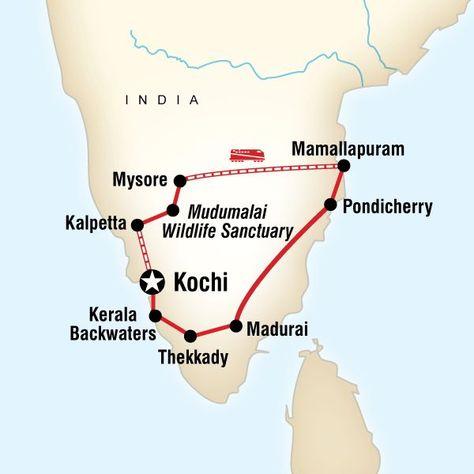 Karte Der Route F 252 R Das Beste Von S 252 Dindien India Tour