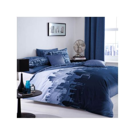 The Stunning City Scape Duvet Cover And Pillowcase Set Is Perfect For Your Modern Urban Style Decor With Fading New York Bedroom Bed Linen Sets Bedroom Themes