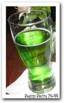 green cocktails. several nonalcoholic