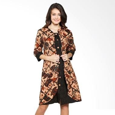 35 Model Dress Batik Modern Masa Kini 2018 Terbaru 1000 Model