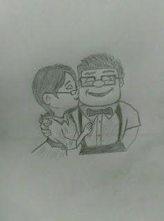 Jack Drawings Up Altas Aventuras Desenho Carl E Ellie