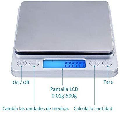 Zacro Bascula Digitales 500g X 0 01g Bascula Balanzas De Alta