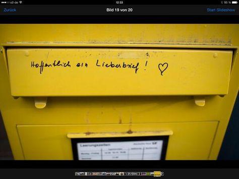 Hoffentlich ein Liebesbrief! ♡