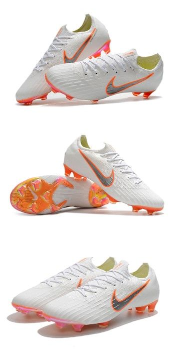 Nike World Cup 2018 Mercurial Vapor Xii Fg Boots White Orange Cool Football Boots Soccer Boots Nike World