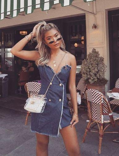 £28.00 Denim Blue Military Dress #denimdressoutfit #demindresssummer #denimdressfall #streetsytledenimdress #denimdress2018 #fitteddenimdresses #bluedenimdress #isawitfirst #iworeitfirst #instastyle #ootd #stylegoals #fbloggers #inspo #fashion #denim #CARMSLONDON