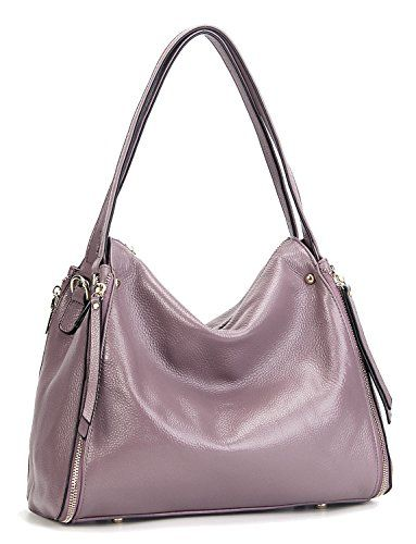 edbf9d29e9d34 Heshe Leather Handbags Totes Top Handle Bags Shoulder Handbag Satchel Purse  Designer Cross Body Bag for Womens and Ladies - Lilac