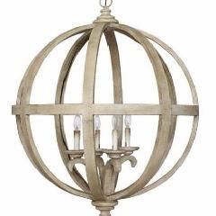 Chateau Wood And Metal Sphere Chandelier Wooden Orb Chandelier
