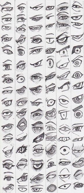 Diferentes Formas De Dibujar Ojos Estilizados Referencia De Ojos Estilizados De Dibuj Dibujos De Ojos Ojos De Caricatura Tutoriales De Dibujo De Los Ojos