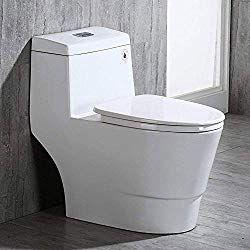 Top 10 Best Dual Flush Toilets 2019 Reviews Buying Guide One Piece Toilets Wood Bridge Modern Toilet