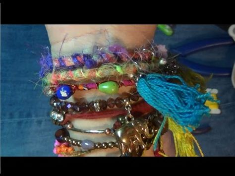 c2212cf7866eb how to make and alter a bracelet boho style - YouTube