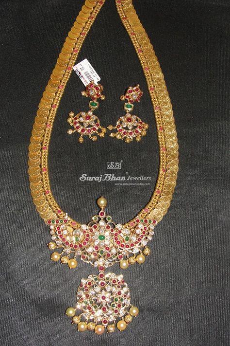 Top kasulaperu necklace designs in Gold
