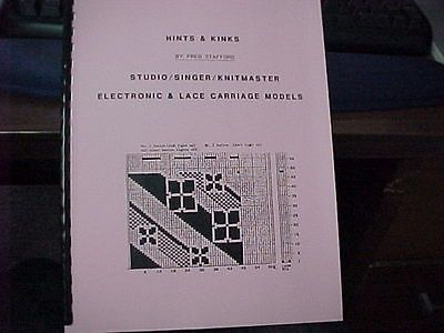 Hints /& Kinks for Singer//Studio Electronic Machines