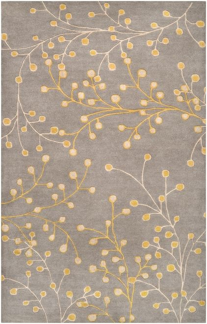 Athena Ath5052 Yellow Rug Floral Area Rugs Wool Area Rugs Area Rug Collections