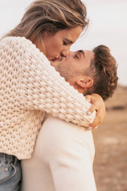 Download Front View Of Lovely Couple Kissing For Free Cute