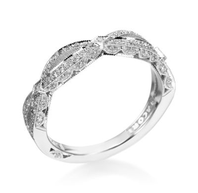 Tacori - Crescent Silhouette Collection Platinum Open Scalloped Band (Available at Michael C. Fina)