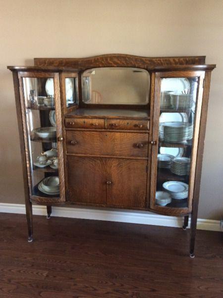 Antique Oak China Cabinet Hutches Display Cabinets Stratford Kijiji