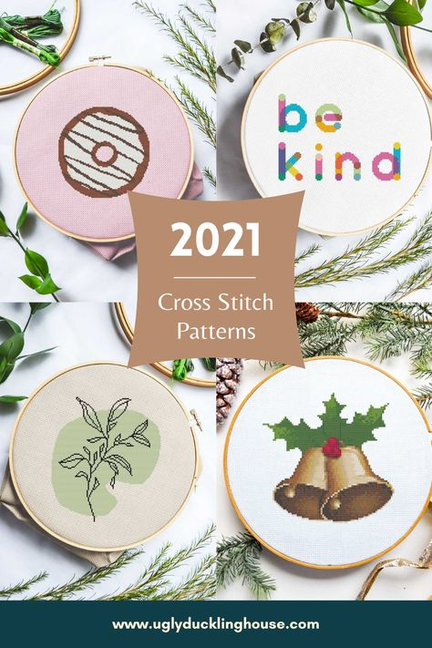 New cross stitch patterns being released for 2021! One new pattern will be posted each month for the entire year. Hit the blog for more info and sign up. #crossstitch #diy #crossstitchpatterns #xstitch
