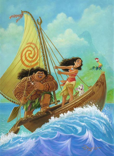 Tim Rogerson – Moana Knows The Way - Deluxe Studio Framed Canvas
