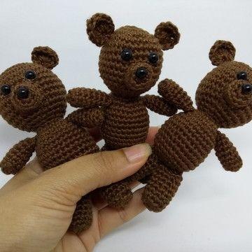 Urso amigurumi no Elo7   Crochekriando (EFF178)   360x360