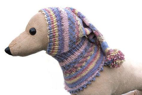 Blauwe en roze Lurcher haarband hond hoed Italiaanse windhond kleding whippet…
