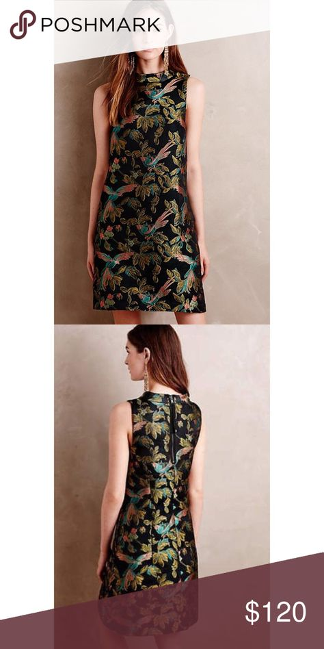 f4c8f9ad66c3 Leifsdottir RARE Shangri-la Jacquard Bird Dress New with no tags attached,  store return Anthropologie Dresses Mini