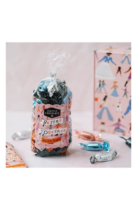 Perfect for sharing with the heroes in your life, this gift bag of tasty chocolate truffles celebrates the 100-year anniversary of women's right to vote.