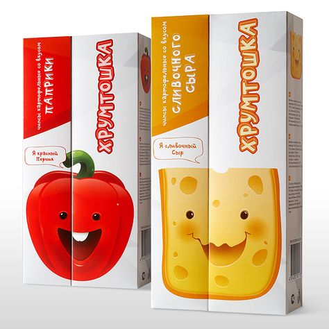 Design of Chips and Corn package by Alexey Tishkin, via Behance