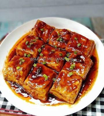 Tahu Saus Teriyaki Resep Masakan Ramadhan Resep Masakan Cina Ide Makanan