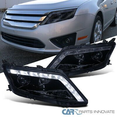 Ad Ebay Glossy Black For 10 12 Ford Fusion Replacement Smoke Led Projector Headlights Projector Headlights Ford Fusion Led Projector