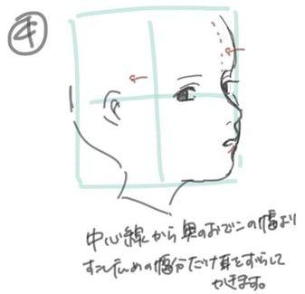 斜め横顔のイラスト 顔の描き方と肌の色選びメイキング お絵かき図鑑 顔 描き方 描き方 顔のスケッチ