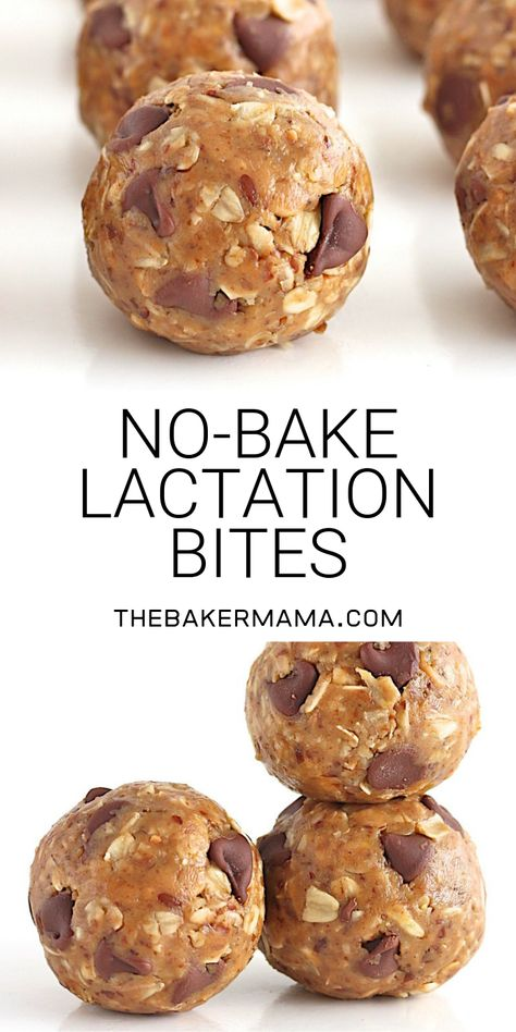 breastfeeding foods These yummy no-bake lactation bites are perfect for a nursing mom or anyone who needs a healthy, hearty, handy boost of energy! Baby Food Recipes, Dessert Recipes, Breastfeeding Snacks, Healthy Pregnancy Snacks, Lactation Smoothie, Healthy Treats, Healthy Baking, Healthy Tips, Deserts