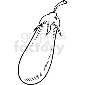 Black And White Cartoon Eggplant Vector Clipart Black And White Cartoon Clip Art Vector Clipart