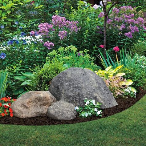 Diy Garden, Garden Design, Home Landscaping, Plants, Rock Garden Design, Landscaping With Boulders, Landscaping With Rocks, Landscape, Garden Stones