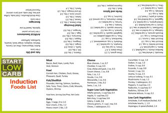 Phase  Atkins Food List  Atkins Diet Induction  Lo Carb