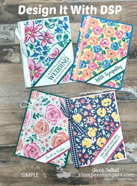 Blog Hop Design It With Garden Impressions Designer Paper Klompen Stampers Designer Paper Cards Paper Cards Simple Cards