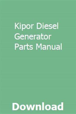 Kipor Diesel Generator Parts Manual   planisvirdu