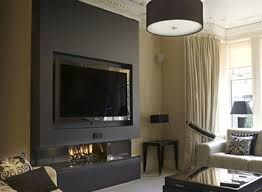 Image result for black feature wall | house | Pinterest | Tv feature wall,  Walls and House
