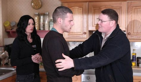 Chas Dingle (Lucy Pargeter), Aaron Livesy (Danny Miller) & Paddy Kirk