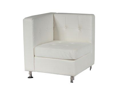 Party Reflections Lounge Furniture White Leather Corner Sectional Prexperience Partyreflections Rental Furniture Furniture Corner Sectional