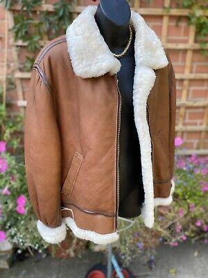 Quality Vintage Womens Tan Shearling Aviator Jacket By Nurseys Ebay Aviator Jackets Vintage Ladies Jackets