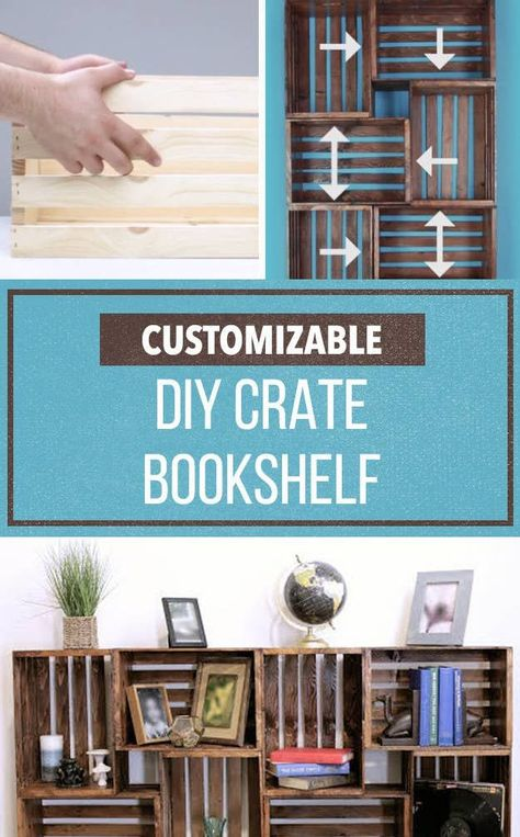 Repurpose Old Wooden Crates With This Clever Bookshelf DIY  #bookshelf #clever #crates #repurpose #wooden