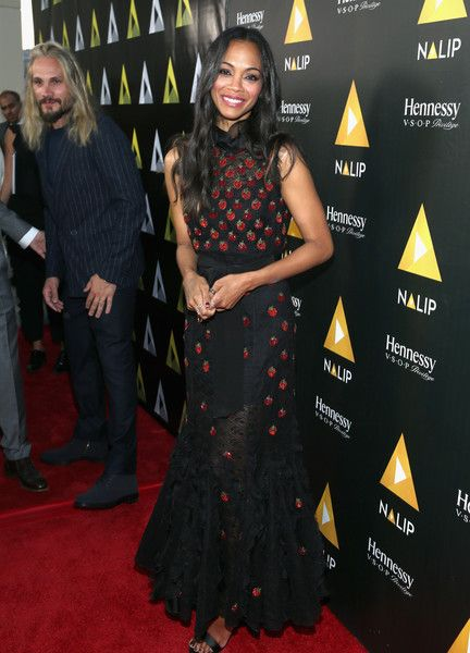 Actor Zoe Saldana attends the NALIP Latino Media Awards at The Ray Dolby Ballroom.