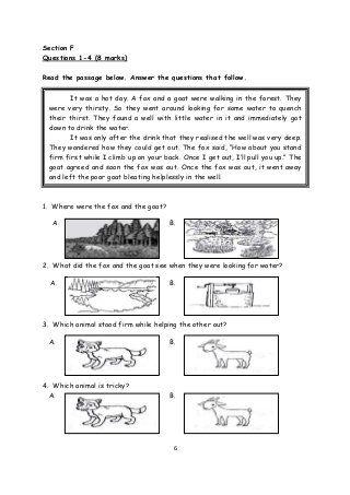 Year 3 Monthly Test 1 Kssr Unit 1 Unit 3 English Exam The Unit English Paper