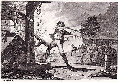 Details Sur Gravure 1825 Pierre Bazile Neuil Saumur Cadeot Indre