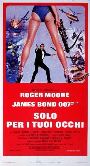 Agente 007 Solo Per I Tuoi Occhi 1981 Film Roger Moore Occhi